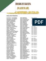 BABALAWOS PRESENTES letra del año 2012