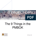 9 Things in the PMBOK