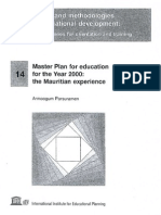 Master Plan for Education for the year 2000