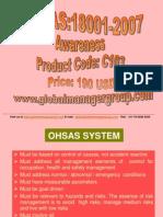 OHSAS 18001 Awareness and Auditor Training Presentation