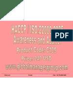ISO 22000 Training Presentation