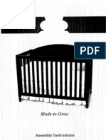 Carters Child of Mine Made-To-Grow Convertible Crib Assembly Instructions