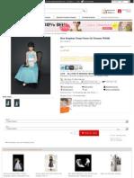Blue Strapless Cheap Flower Girl Dresses FD4099