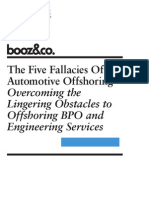 The Five Fallacies of Automotive Offshoring