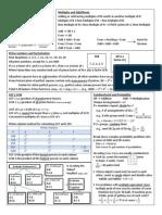 GMAT Number Properties Summary