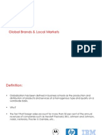 Global Brands & Local Markets