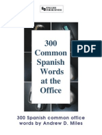 300 Vocablos de Oficina Spanish to English