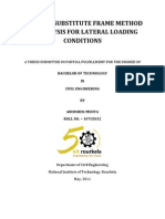 Study of Substitute Frame Method of Analysis for Lateral Loading Conditions