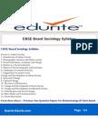 CBSE Board Sociology Syllabus