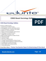 CBSE Board Sociology Syllabus