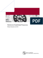 Boletin de Estabilidad Financiera Argentina Mar 2012
