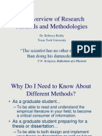 An Overview of Research Methods and Methodologies