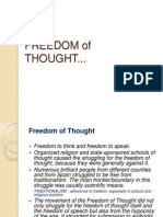 Freedom of Thought Angelie Delos Reyes