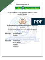Corporation Bank Report