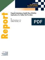 Pre-Paid Ambulatory Health Plans