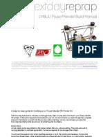 Reprap Prusa Mendel Build Manual MASTER V2