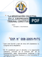 La Negociacion Colectiva en La Jurisprudencia Del Tc