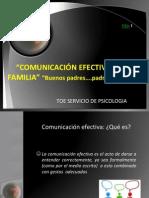 COMUNICACIÓN EFECTIVA EN LA FAMILIA