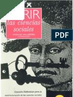 Wallerstein Immanuel Abrir La Ciencias Sociales OCR