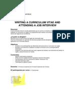Cv and Job Interview