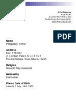 Arthur Palapessy Resume