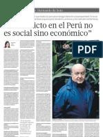 El conflicto en el Perú no es social sino económico
