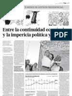 Entre la continuidad económica y la impericia política y social
