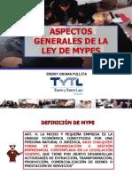Aspectos Generales Ley Mype Estudio Torres