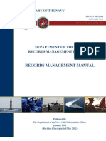 DEPARTMENT OF THE NAVY RECORDS MANAGEMENT PROGRAM RECORDS MANAGEMENT MANUAL
