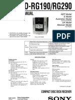 sony HCD-RG290 RG190