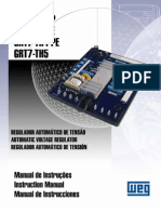 Manual de Instruções Regulador de Tensão RT7-TH4E