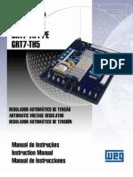 Manual de Instruções Regulador de Tensão RT7-TH4E