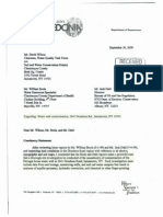 Hydrofracking Forum Documents from Josh Fox, Gasland - Letter From Michael Wilson To Chautauqua County Health Department