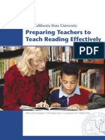 Preparing Teachers to Teach Reading Effectively