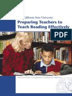 Preparing Teachers to Teach Reading Effectively