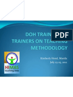 DOH TRAINING OF TRAINERS ON TEACHING METHODOLOGY- A GROUP OUTPUT