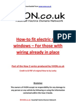 How to Fit Electric Rear Windows