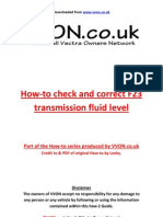 How to Refill f23 Transfluid