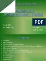 Seminar ppt on solar updraft tower