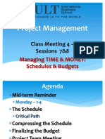 Cs4 Schedules Budgets