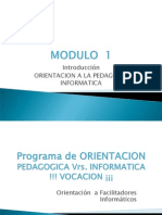 Módulo I pedagogia -  si(4)