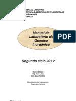 Manual de Laboratorio de Quimica Inorganica 2012