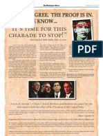 Obama LFBC is a Forgery per Detective Mike Zullo of AZ - Article II Super PAC Wash Times Ad - Daily Edition - 23 Jul 2012