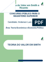 A Teoria Do Valor Em Smith e Ricardo - PDF