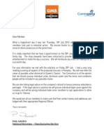Joint Notice to Members - Update - 23 July 2012