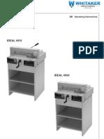 Operation Manual 4350 Paper Cutter