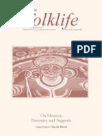 Indian Folklife- On Memory