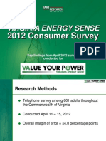 Virginia Energy Sense 2012 Consumer Survey