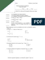 Evaluación Síntesis de Logaritmos