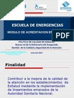 Gerencia de Calidad en Emergencias. EsSalud.escuela de Emergencias.